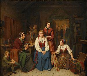 Peter Eskilsson - Wedding preparations, 1857