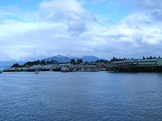 Petersburg, Alaska - A view of the Petersburg waterfront.