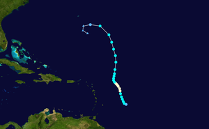Hurricane Philippe (2005) - Image: Philippe 2005 track