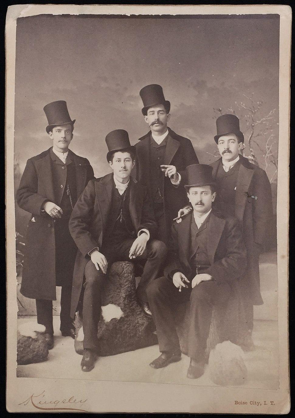 Photograph--Cabinet-Card--Men--Beaver--Hats