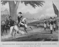 Photograph of a Painting of Washington Taking Command of the American Army at Cambridge, Massachusetts - NARA - 532915.tif