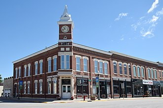 National Register of Historic Places listings in Bremer County, Iowa - Image: Photograph of the Bank of Sumner