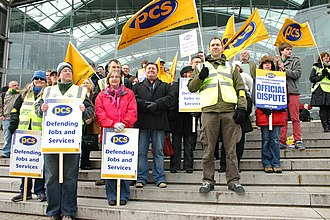 Public and Commercial Services Union - PCS members on strike in 2010.