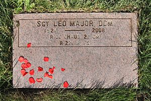 Léo Major - Léo Major's headstone at Last Post Fund National Field of Honour, Pointe-Claire, Quebec, Canada