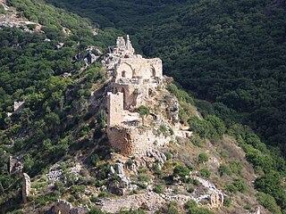 Montfort Castle ruined crusader castle in the Upper Galilee region in northern Israel