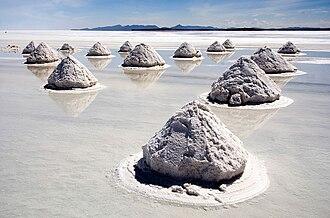 History of salt - Salt mounds
