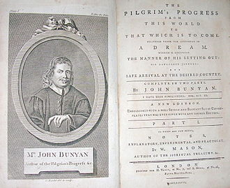 The Pilgrim's Progress - The frontispiece and title-page from an edition printed in England in 1778