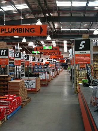 Big-box store - Interior of Mitre 10 MEGA, a big box hardware store in Australia