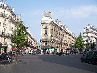 Paris Street; Rainy Day - 2010 photograph of the Place de Dublin