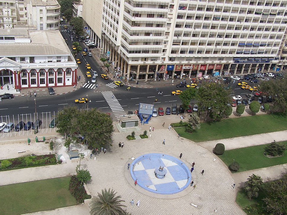 Place de l'independance dakar ( senegal )