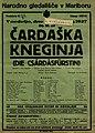 Plakat za predstavo Čardaška kneginja v Narodnem gledališču v Mariboru 6. novembra 1927.jpg