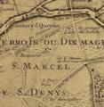 Plan du terroir de St Denis. Chemin des Fruitiers. 1707.png
