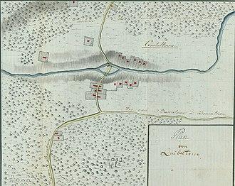 Forage War - Plan of Quibbletown by Johann von Ewald