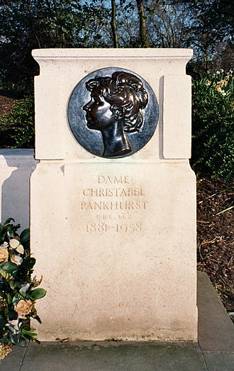 Emmeline and Christabel Pankhurst Memorial - Image: Plaque Christabel Pankhurst