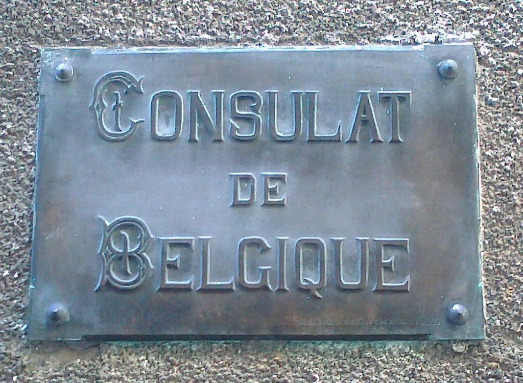 file plaque de l entr 233 e de l ancien consulat de belgique 224 tulle 9 rue du fouret jpg