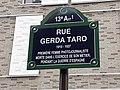 Plaque de la rue Gerda Taro, Paris, France.jpg