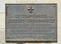 Plaque to Jacques Archambault Eglise de Dompierre sur Mer.jpg