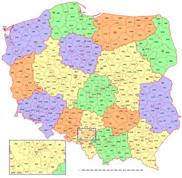 Geografische Verteilung der Kürzel