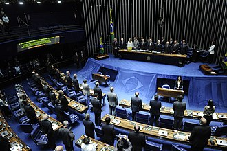 Federal Senate - The Federal Senate in the National Congress building in Brasília, capital city of Brazil since 1960