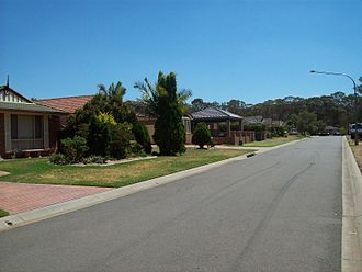Plumpton, New South Wales - Residential streetscape in Plumpton