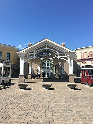 Polaris Fashion Place - The Main Entrance is located between Molly Woo's and Brio Tuscan Grille.