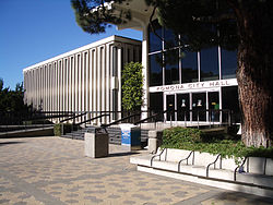 City Hall Pomona, California, 1969, Welton Becket and B.H. Anderson