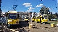 Pomorzany tram loop in Szczecin, 2016.jpg