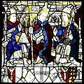 Pope Celestine, St William and an unidentified Prelate, East Window, York Minster.jpg