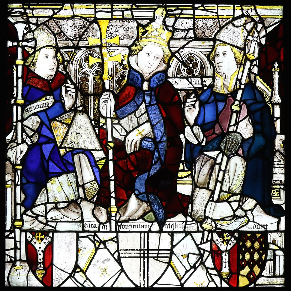Pope Celestine, St William and an unidentified Prelate, East Window, York Minster