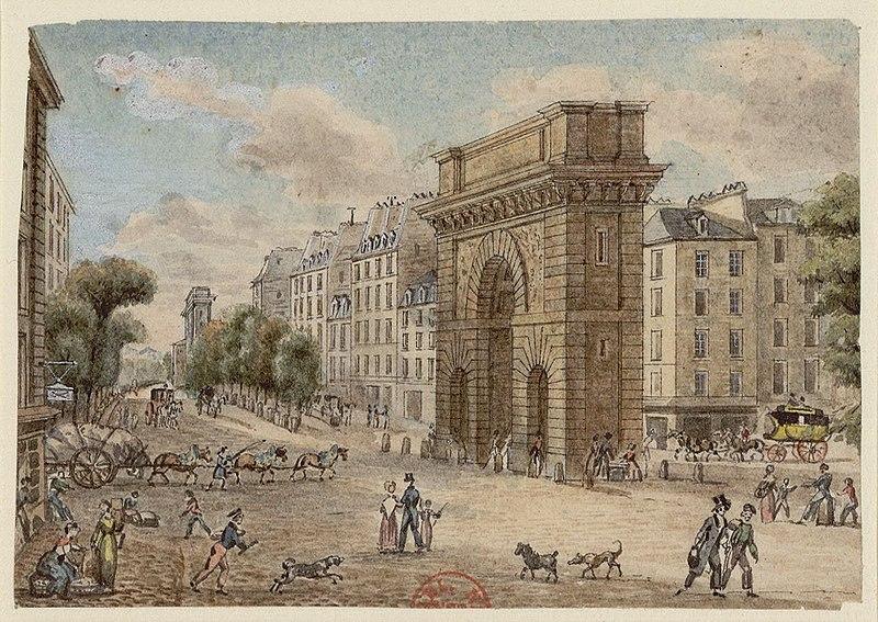Fichier:Porte et boulevard Saint-Martin (Paris) 1829.jpg
