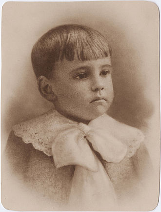 Eugene O'Neill - Portrait of O'Neill as a child, c. 1893