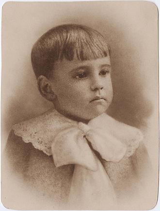 Eugene O'Neill - Portrait of O'Neill as a child, c. 1893