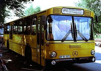 Postbus - Mercedes-Benz O 307 Postbus in Grafenau, Bavaria, 1982