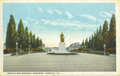 Postcard showing World's War memorial monument in Danville, Illinois, USA circa 1923.png