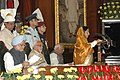 Pratibha Patil addressing at the 60th anniversary of Independence Day Celebrations organised by the Lok Sabha Speaker, Shri Somnath Chatterjee at the Central Hall of Parliament in New Delhi on August 15, 2007.jpg
