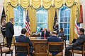 President Trump and The First Lady Receive a Hurricane Briefing (48188284051).jpg