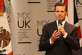Mexico–United Kingdom relations - President Enrique Peña Nieto speaking during a State Visit to the United Kingdom, March 2015.