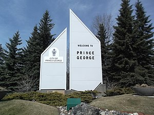 Prince George, British Columbia - Prince George's welcome sign