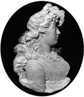 Peter Rouw - Wax portrait relief by Peter Rouw c.1795 of Charlotte Augusta Matilda, Princess Royal (National Portrait Gallery, London, NPG 2174)