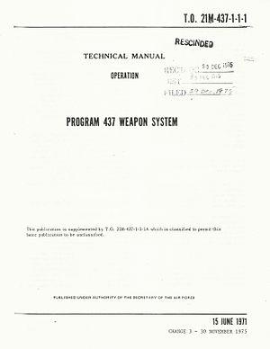 Program 437 - Image: Program 437 Tech Order Cover