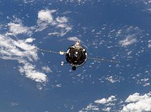 Progress M1-11 approaching the ISS