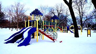 Berwyn, Illinois - Proksa Park in the winter