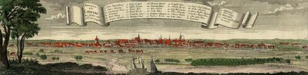 Leipzig, Stadtansicht von Südosten (Quelle: Wikimedia)