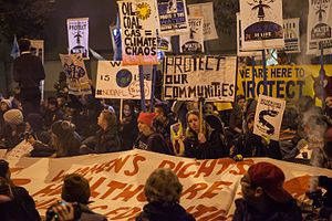 21st-century fossil fuel regulations in the United States - Protest against Dakota Access and Keystone XL pipelines