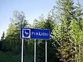 Pyhäjoki municipal border sign 2018.jpg