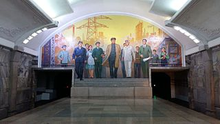 North Korean Subway Map.Pyongyang Metro Wikipedia