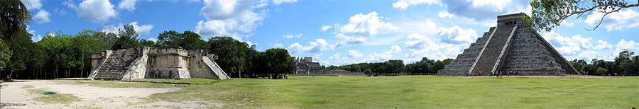 Panorama središnjeg trga Chichén Itzá