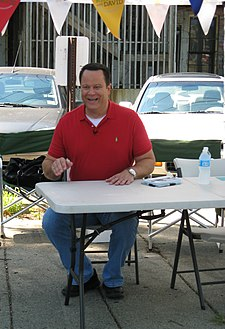 david venable at a cookbook signing event in ypsilanti michigan