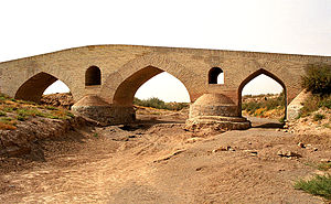 Safavid art - A bridge from the Safavid period, near Qazvin.