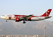 Qeshm Airlines Airbus A300B4-605R on short finals at Mehrabad Airport.jpg